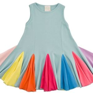 LEMON LOVES LIME RAINBOW CARNIVAL SWING DRESS